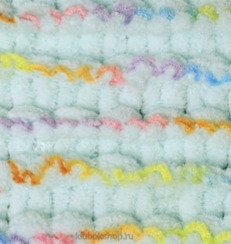Пряжа Puffy Color Alize 5860 Водяная зеленьс красно-желто-синим - купить в интернет-магазине недорого klubokshop.ru