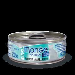 Monge Natural консервы для кошек с морепродуктами и курицей 80гр