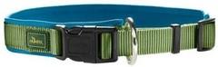 Ошейник для собак, Hunter Neopren Vario Plus (50-55)/2,5 см, нейлон/неопрен зеленый/голубой