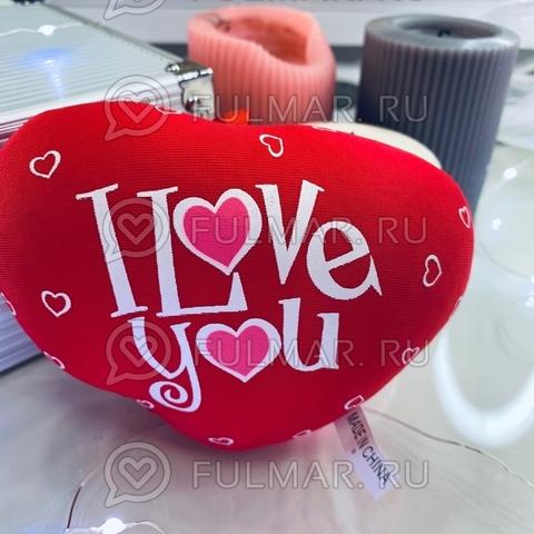 Сердце Валентинка антистресс игрушка Love you с сердечками (14х12х4 см)