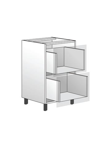 Напольный шкаф c 2 ящиками, 720х450 мм