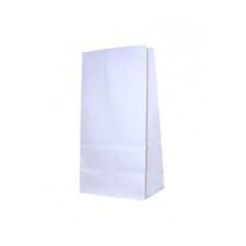 Крафт-пакет белый 19*10*7