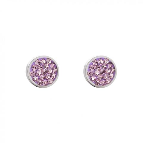 Серьги Coeur de Lion 0118/21-0826 цвет фиолетовый, серебряный