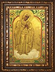 Скорбящая Божья Матерь. Икона на холсте.