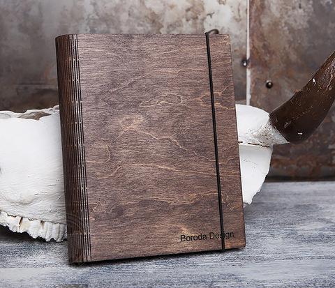 Оригинальный блокнот в деревянной обложке со сменным блоком