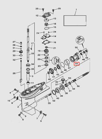 Шайба регулировочная SHIM (T: 0.05mm)  для лодочного мотора T40 Sea-PRO (23-43)