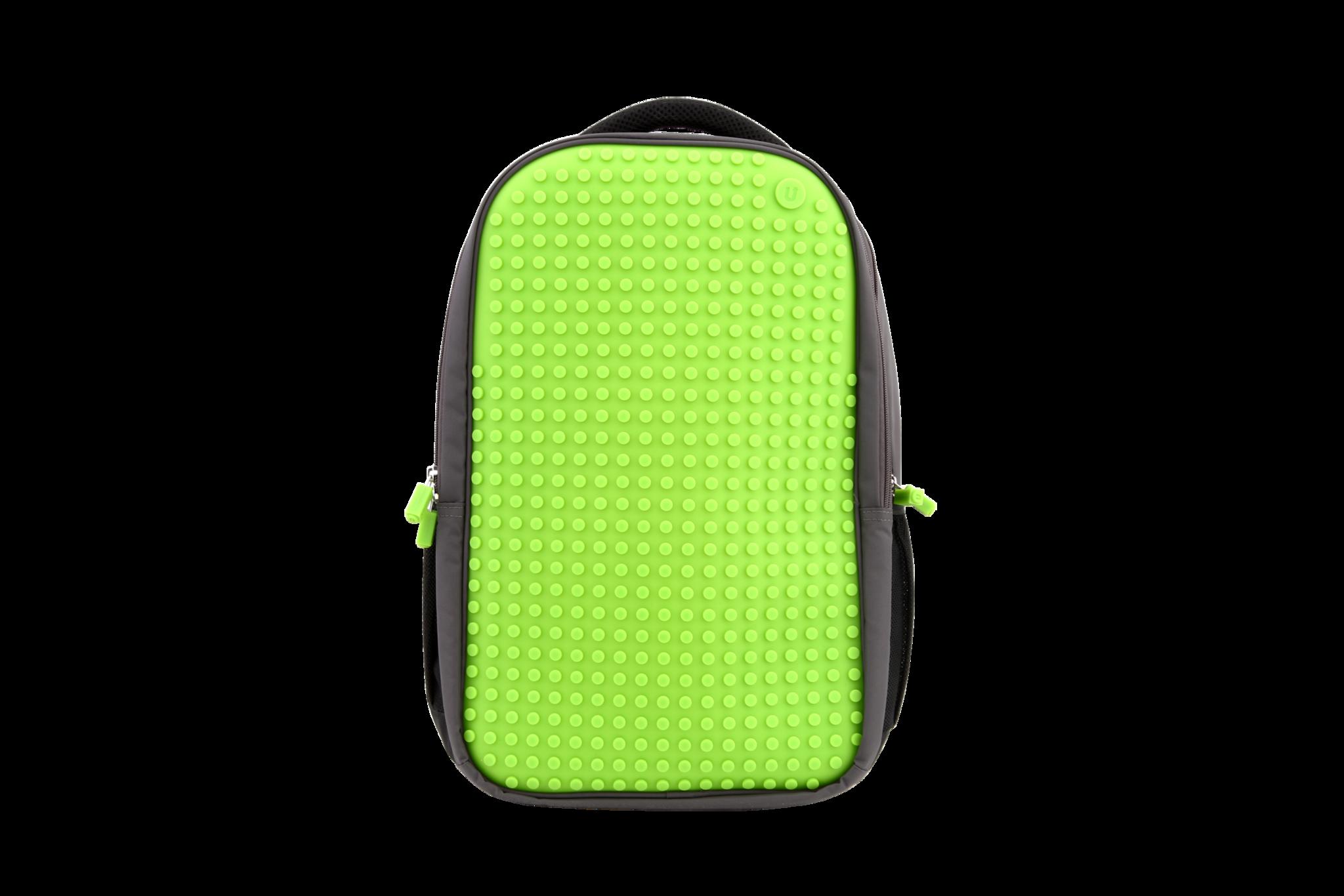 Школьный пиксельный рюкзак Full Screen зеленый