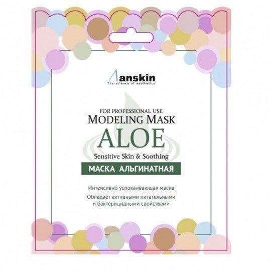 Anskin Original Маска альгинатная с экстр. алоэ успок. (саше) 25гр Aloe Modeling Mask  / Refill 25гр