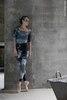 Комплект: Купальник 2 Рукава + леггинсы Zigsi + средняя юбка на запах, испачканные принтом