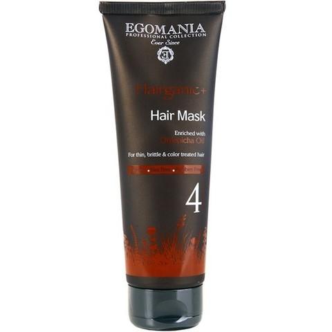 Маска с маслом облепихи для тонких, ломких и окрашенных волос,Egomania Hairganic,250 мл.