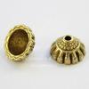 Шапочка - конус для бусины 10х5 мм (цвет - античное золото), 10 штук