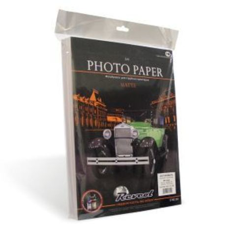 Фотобумага, матовая двухсторонняя, A4, 220г/м2, 100 л.