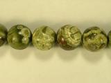 Бусина из яшмы риолит, шар гладкий 12мм