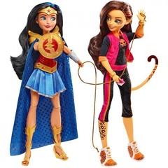 Эксклюзивный набор кукол Вандер Вуман (Wonder Woman) и Чита (Cheetah) Школа супер Героинь - DC Super Hero Girls Comic-Con 2017, Mattel