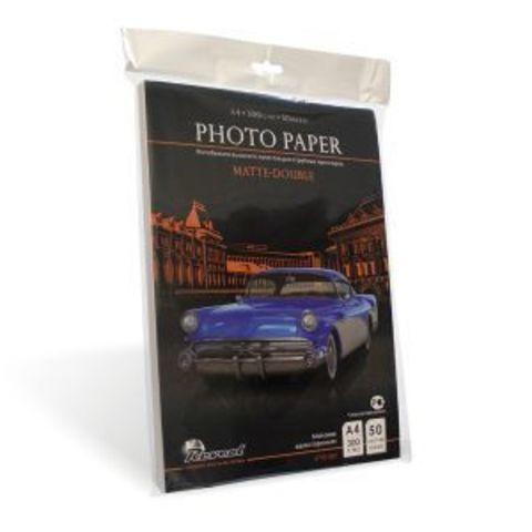 Фотобумага, матовая двухсторонняя, A4, 300г/м2, 50 л.