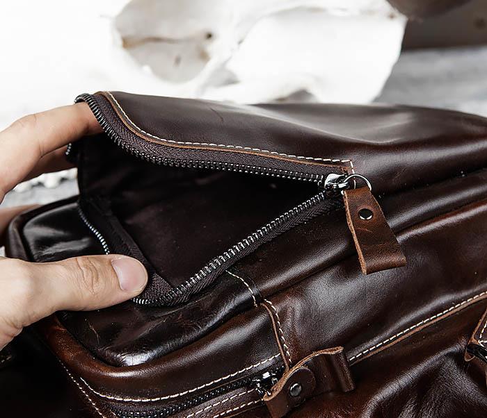 BAG447-2 Кожаная сумка рюкзак с лямкой через плечо фото 08