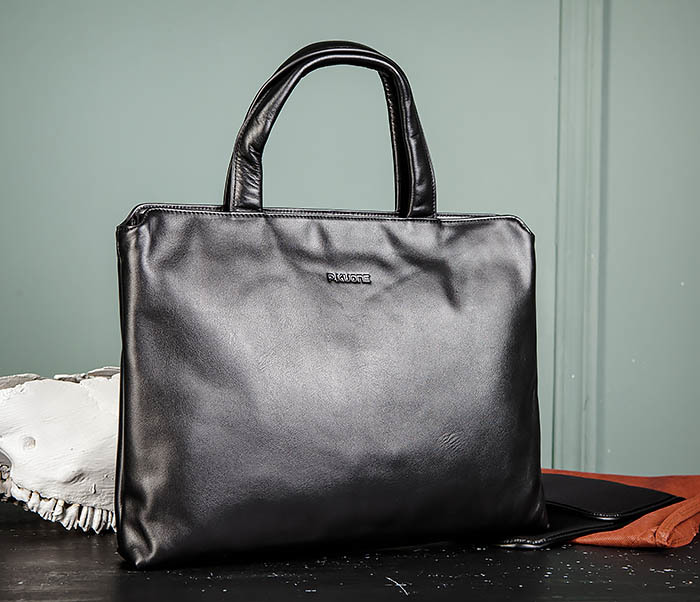 BAG485-1 Мужская деловая сумка из гладкой натуральной кожи