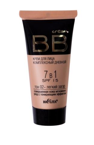 БВ BB cream Крем для лица комплекс дневной 7в1 SPF15 тон 02  30мл