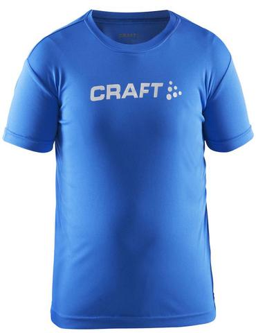 Футболка беговая детская Craft Run Logo Blue