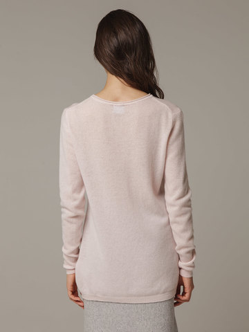 Женский розовый джемпер из 100% кашемира - фото 2