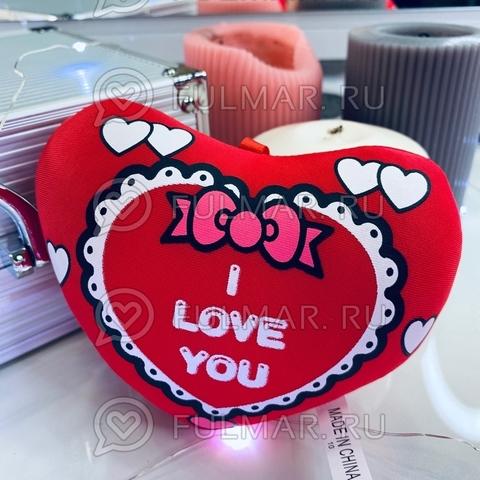 Сердце Валентинка антистресс игрушка I Love you открытка (14х12х4 см)