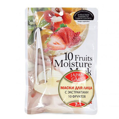 Japan Gals Pure 5 Essence - Маска с экстрактами 10 фруктов