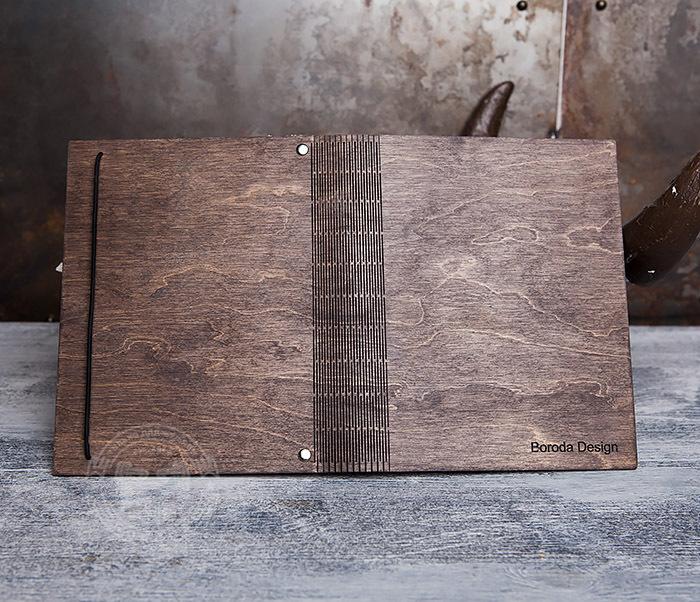 BC133-2 Оригинальный блокнот в деревянной обложке со сменным блоком фото 05