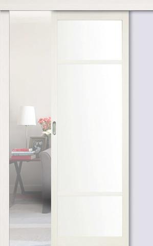 Перегородка межкомнатная Optima Porte 131.222, стекло матовое, цвет белый монохром, остекленная (за 1 кв.м)