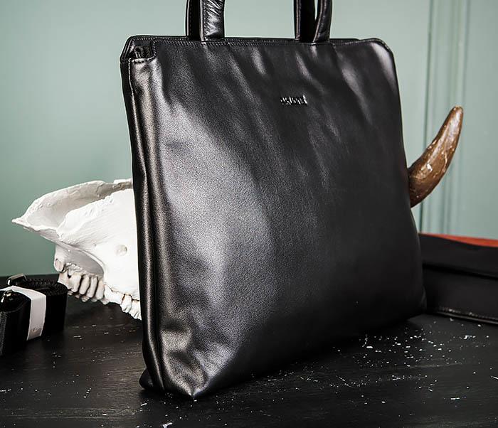 BAG485-1 Мужская деловая сумка из гладкой натуральной кожи фото 03