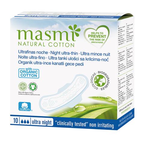 Ультратонкие ночные гигиенические прокладки из натурального хлопка (MASMI NATURAL COTTON)