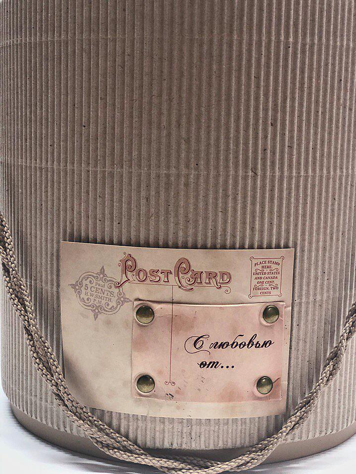 Шляпная коробка D18 см  . Гофра .  Розница 400 рублей .