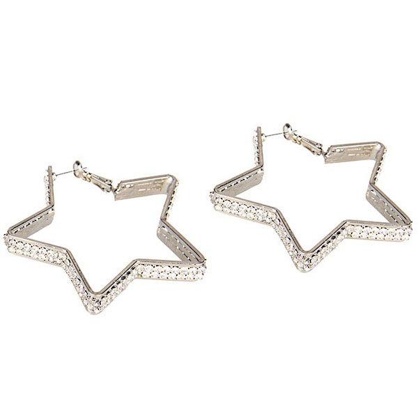 Перчатки и аксессуары: Серьги-звездочки с кристаллами Diamond Star