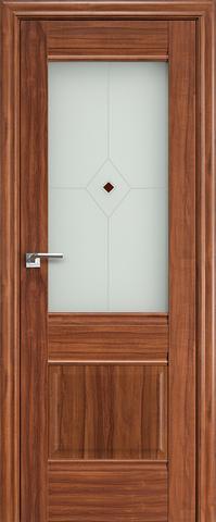 Дверь Profil Doors №2Х-Классика, стекло узор, цвет орех амари, остекленная