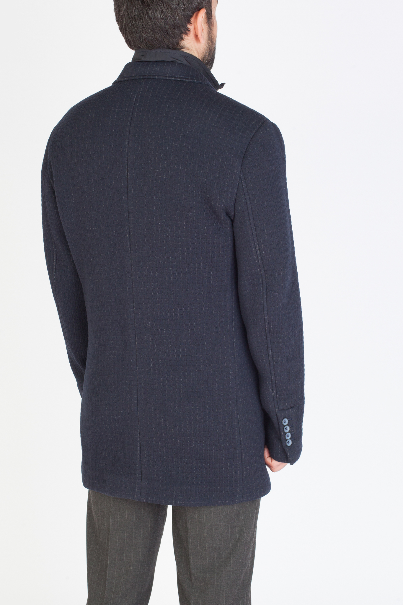Фиолетовое пальто с подстёжкой на молнии