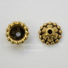 Шапочка для бусины  (цвет - античное золото) 10х3 мм, 10 штук