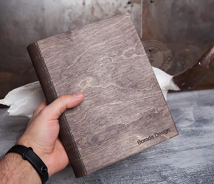 BC133-2 Оригинальный блокнот в деревянной обложке со сменным блоком фото 07