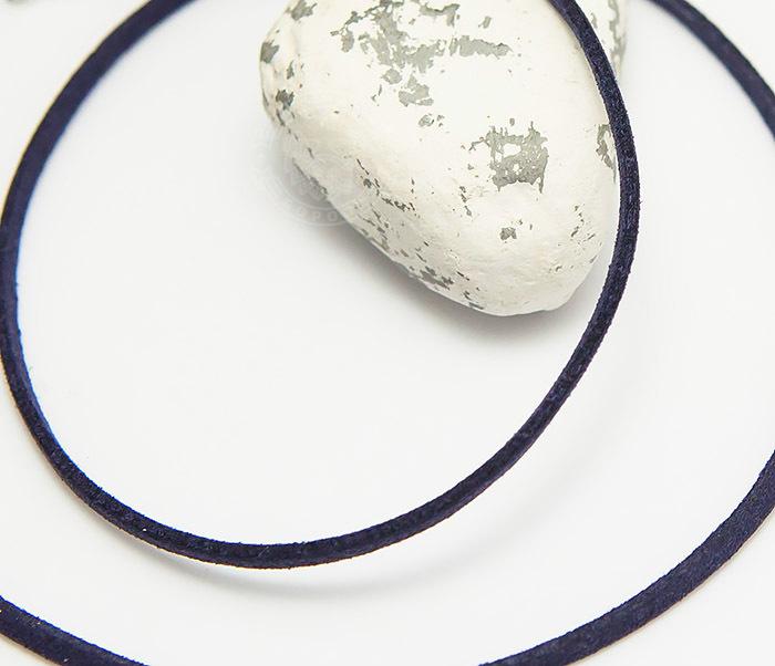 PL284-5 Темно-фиолетовый шнурок на шею из натуральной замши (55 см)