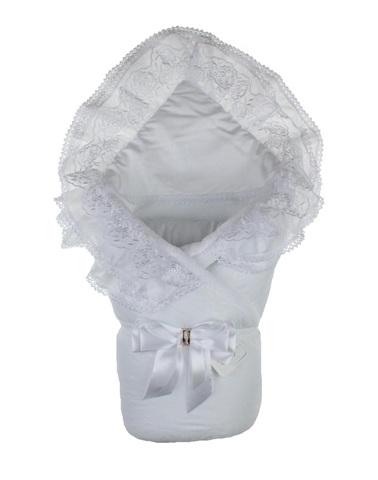 Конверт одеяло на выписку осень Beautiful белый