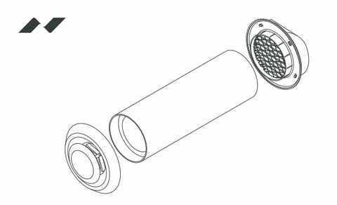 ДомВент Norvind Lite Стеновой клапан