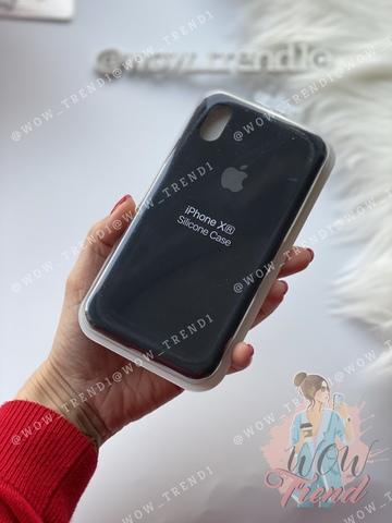 Чехол iPhone XR Silicone Case Full /black/ черный