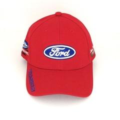Кепка с вышитым логотипом Форд (Кепка Ford) красная