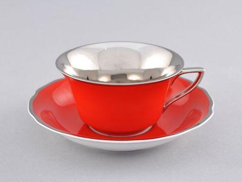 Чашка низкая с блюдцем 0,15 л Виндзор Leander
