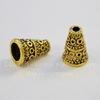 """Шапочка - конус для бусины """"Кружочки"""" 10х7 мм (цвет - античное золото), 10 штук"""