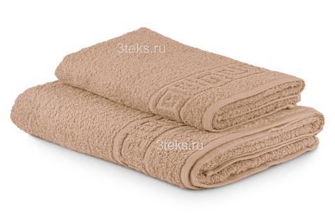 Полотенце махровое гладкокрашеное (Светлый Капучино)