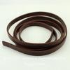 Шнур (искусств. кожа), 7х2 мм, цвет - шоколадный, примерно 1 м