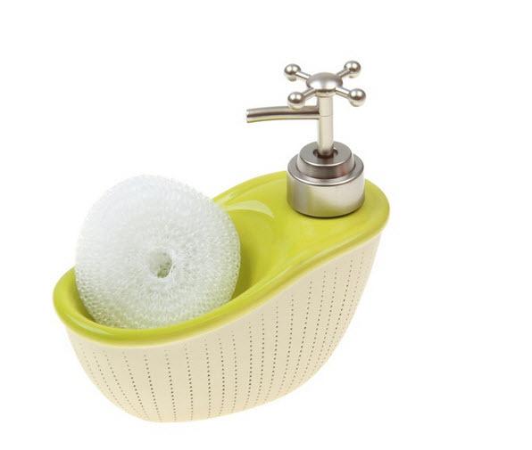 Дозатор для моющего средства с подставкой для губки