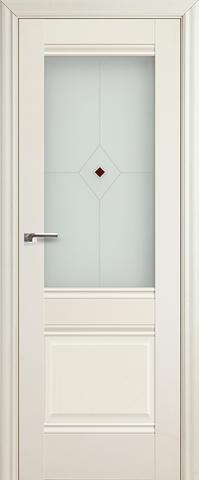 Дверь Profil Doors №2Х-Классика, стекло узор, цвет эш вайт, остекленная