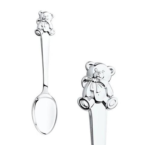 Ложка детская «Мишутка» из серебра