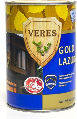VERES GOLD LAZURA/ВЕРЕС ГОЛД ЛАЗУРЬ глянцевая декоративно-защитная пропитка для древесины с водоотталкивающими компонентами