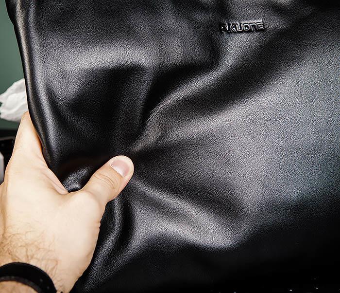 BAG485-1 Мужская деловая сумка из гладкой натуральной кожи фото 08